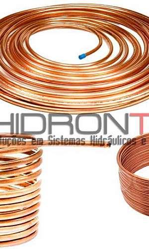 Tubo de cobre hidráulico